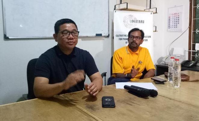 Eks Kapolsek Pasirwangi AKP Sulman Aziz (kiri) dan Direktur Lokataru Haris Azhar.