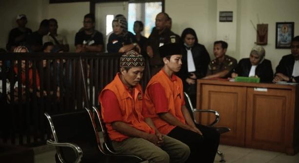 Kedua pembunuh supir GrabCar yang di hukum mati.