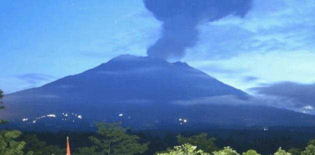 Gunung Agung di Bali.