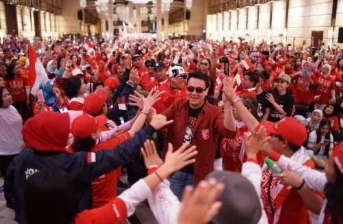 Ribuan Pekerja Migran Indonesia di Hongkong saat deklarasi dukung Jokowi-Ma'ruf Amin.