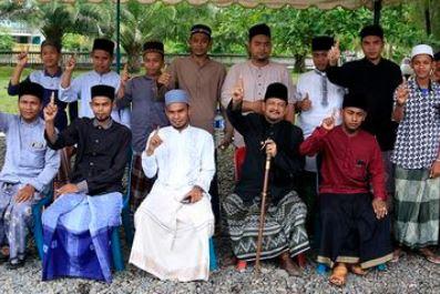 Tengku Ahmad Tajuddin saat nyatakan dukungan ke Jokowi-Ma'ruf Amin.