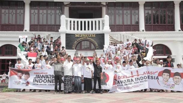Deklarasi Jawara untuk Jokowi-Ma'ruf Amin.