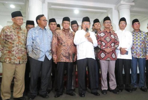 Jusuf Kalla bersama pimpinan ormas Islam.