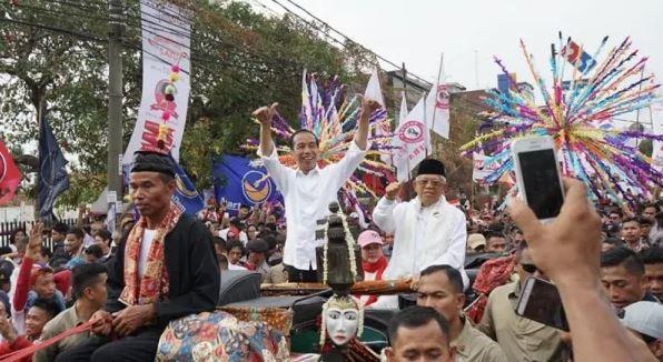 Jokowi-Ma'ruf kampanye di Tangerang.