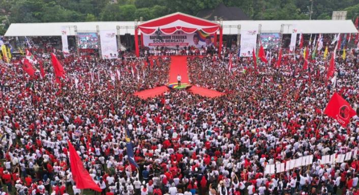 Jokowi kampanye di Solo.