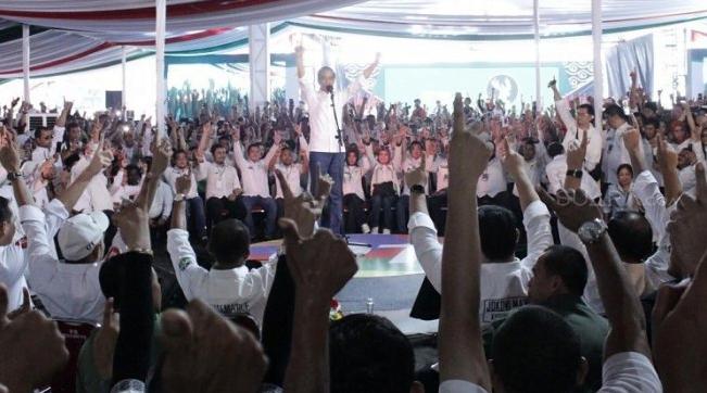 Jokowi kampanye di Bogor.