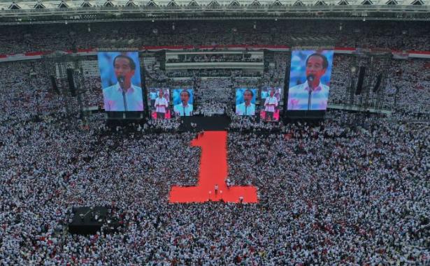 Kampanye Jokowi di Senayan. (foto:Elson B)