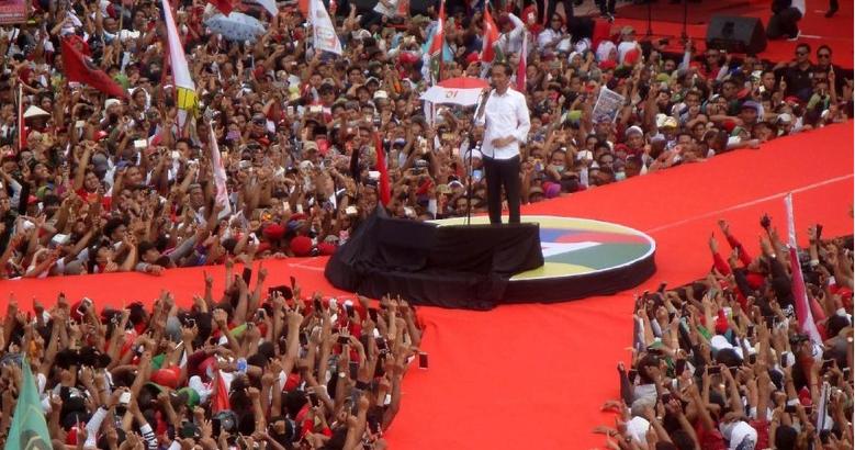 Jokowi kampanye di Purwokerto.