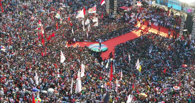 Jokowi kampanye di Batam.