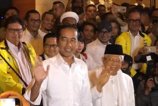 Presiden Jokowi dan Ma'ruf Amin.