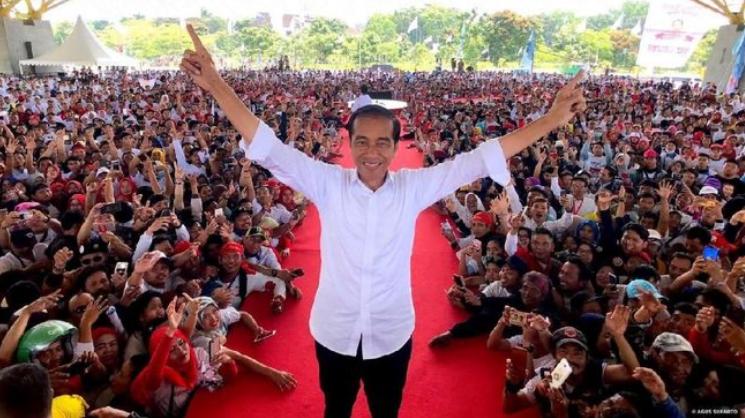 Presiden Jokowi dalam saat kampanye. (Foto: Agus Suparto/Fotografer Pribadi Jokowi).