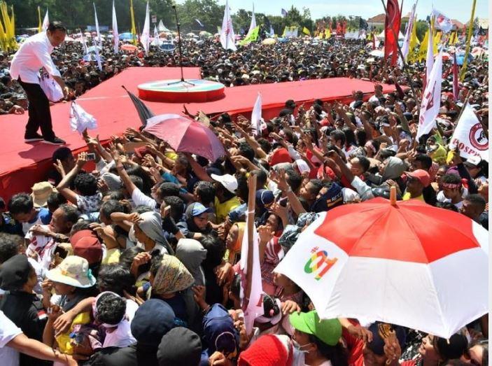 Capres Jokowi kampanye di Kupang, NTT. (Foto: dok. ist)