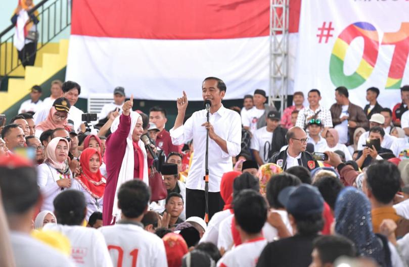 Jokowi saat kampanye di Sukabumi.