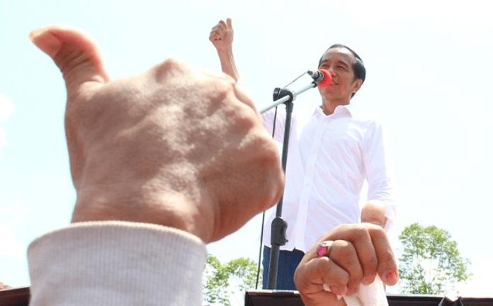 Jokowi saat kampanye. (foto:Antara)