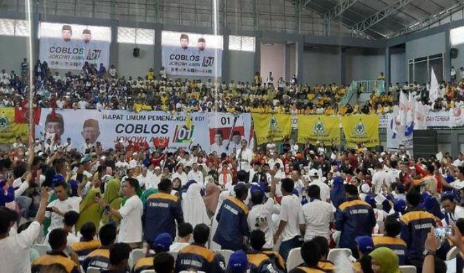 Jokowi saat kampanye di Probolinggo.