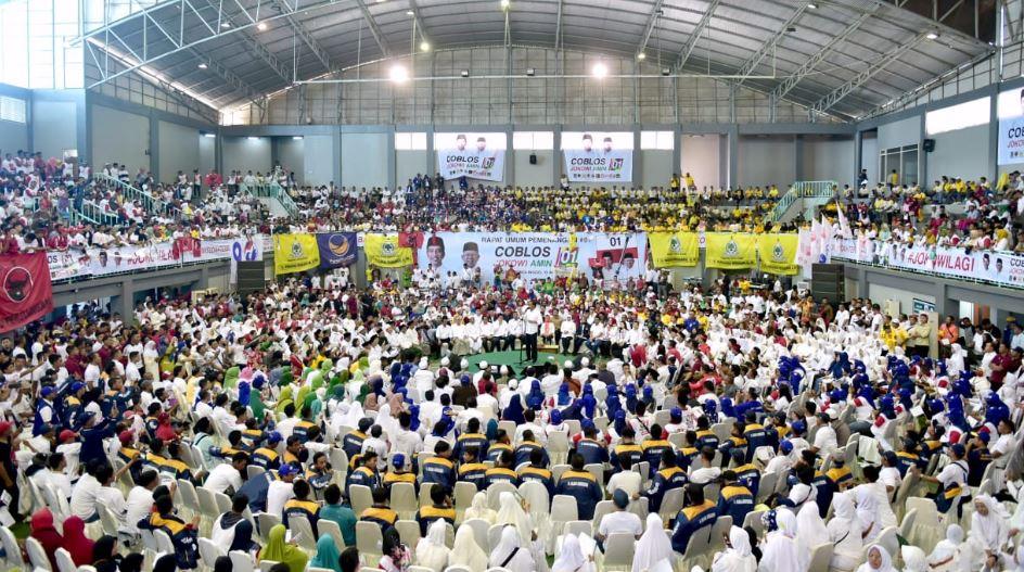 Jokowi kampanye di Probolinggo.