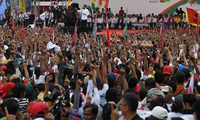 Jokowi kampanye di Banyumas.