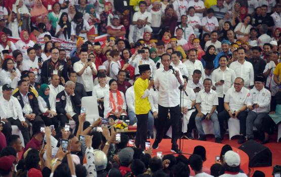 Jokowi kampanye di Asahan.