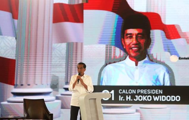 Jokowi saat debat Capres 2019.