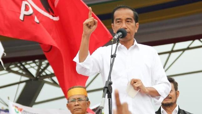 Jokowi saat kampanye di Sulsel.