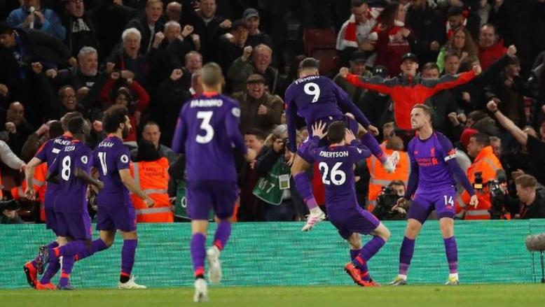 Selebrasi pemain Liverpool usai kalahkan Southampton.