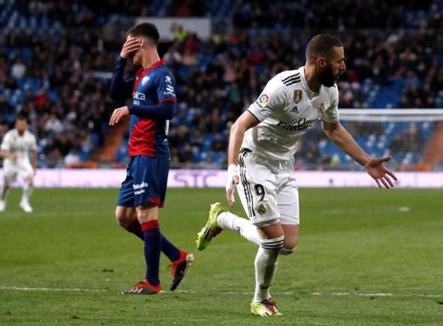 Karim Benzema jadi penentu kemenangan Madrid.