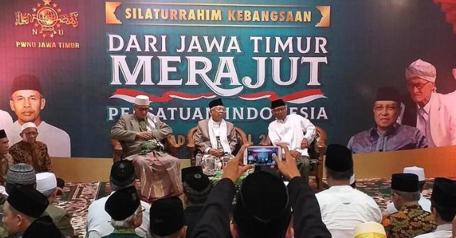 Maruf Amin Hadir di Siaturahmi Kebangsaan di PWNU Jawa Timur.