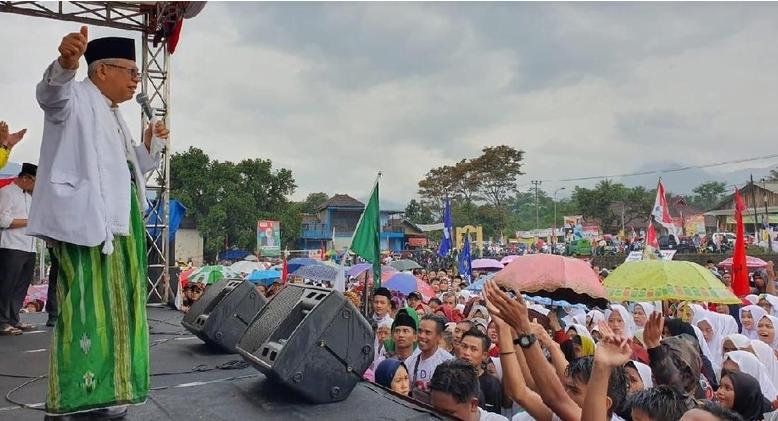 Cawapres Ma'ruf Amin kampanye di Garut. (Foto: Dok. Istimewa).