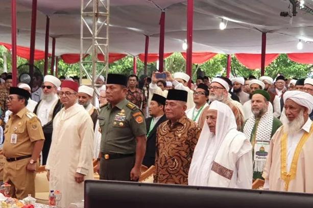 Ryamizard Ryacudu dalam Konferensi Ulama Sufi Internasional, di Pekalongan, Jawa Tengah, Senin (8/4/2019).