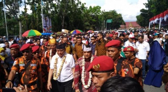 Ryamizard Ryacudu saat hadiri deklarasi PP Riau dukung Jokowi-Ma'ruf.