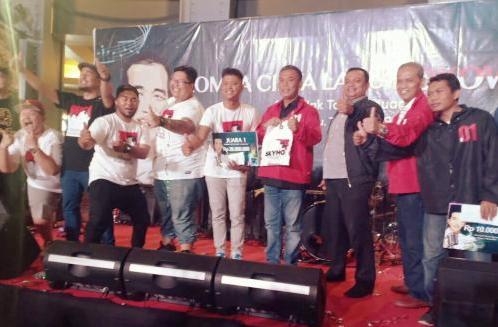 Musisi yang akan bernyanyi bareng Jokowi.