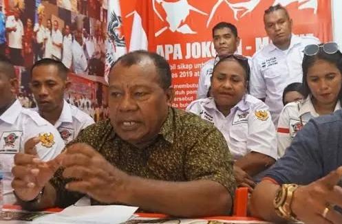 Relawan Garda Indonesia Provinsi Papua saat deklarasi dukung Jokowi-Ma'ruf Amin.