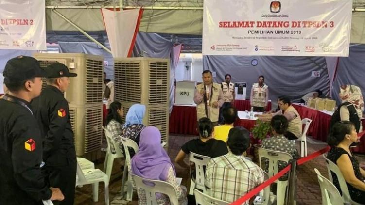Suasana Pemilu 2019 di Penang Malaysia (dok KJRI Penang).