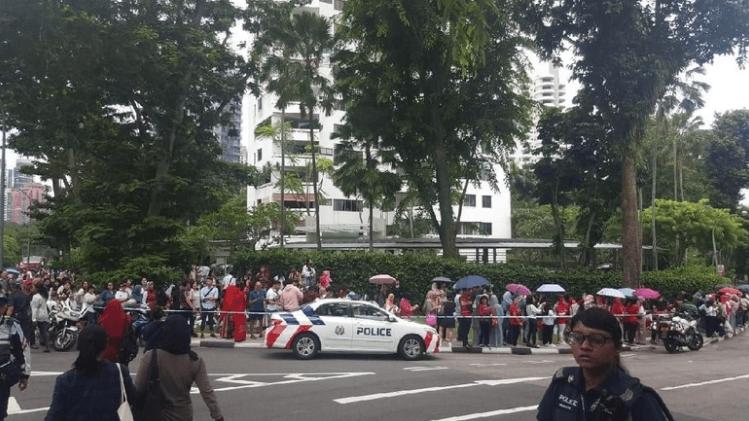 WNI yang mengikuti pencoblosan di Singapura.