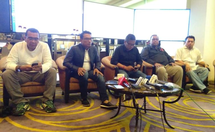 TKN Jokowi-Ma'ruf saat adakan konferensi Pers.