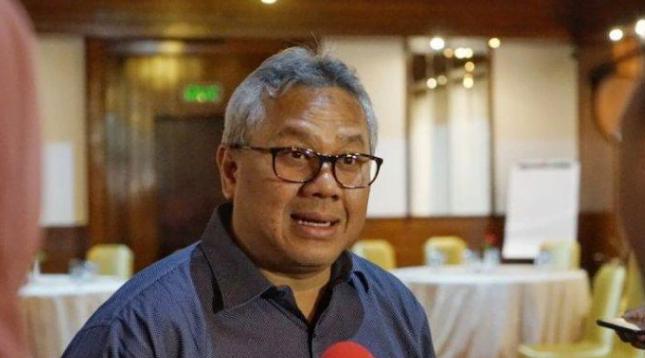 Ketua KPU, Arief Budiman di Gedung KPU.