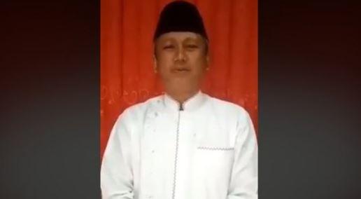 Pembuat video HUT PKI 22 Mei Iwan Adi Sucipto membuat video permintaan maaf.(Facebook)