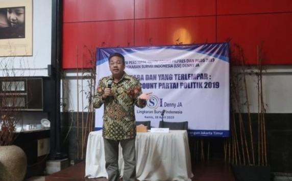 Denny JA, konsultan politik serta pemimpin lembaga survei LSI Denny JA. (Antara)
