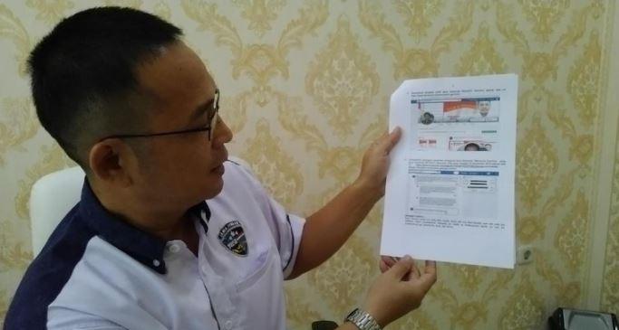 Polisi menunjukkan tangkapan postingan Maryanto.