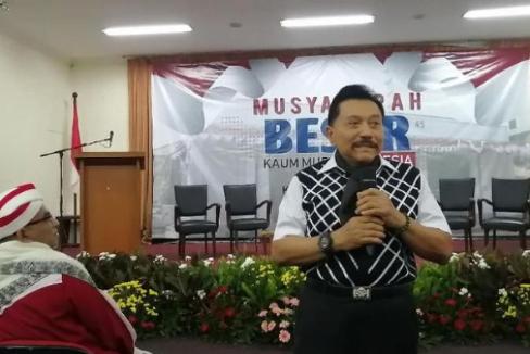Hendro dalam Musyawarah Besar Kaum Muda Indonesia, di Gedung Joeang, Menteng, Jakarta, Minggu, 19 Mei 2019.