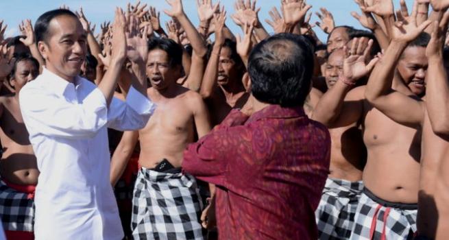 Presiden Jokowi saat berkunjung ke Bali.