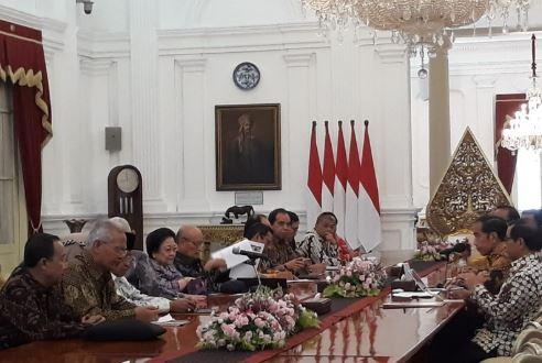 Presiden Jokowi saat terima BPIP di Istana Merdeka.
