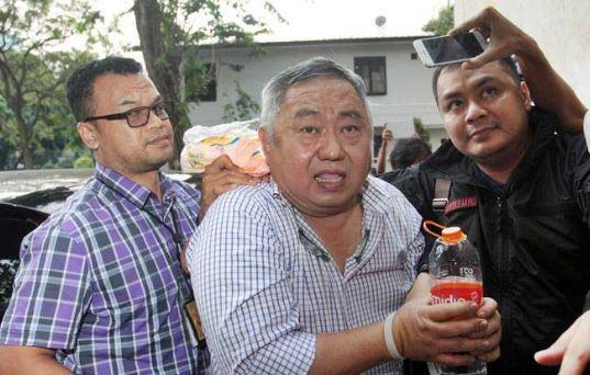 Lieus Sungkarisma saat ditangkap Polisi.