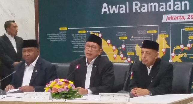Menteri Agama Lukman Hakim Saifuddin (tengah) pimpin langsung Sidang Isbat Ramadhan.