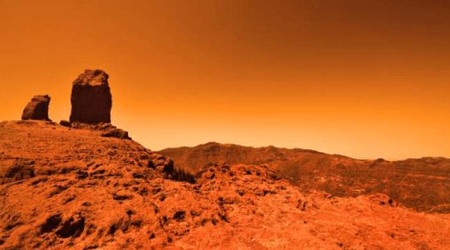 Ilustrasi permukaan planet Mars. (Shutterstock)