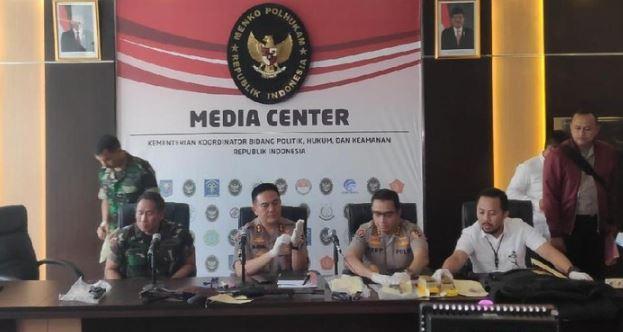Kadiv Humas Polri Irjen M Iqbal dalam konferensi pers di Kemenko Polhukam.