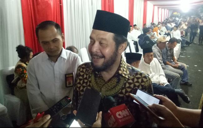 Ketua Mahkamah Konstitusi (MK) Anwar Usman saat diwawancarai wartawan.
