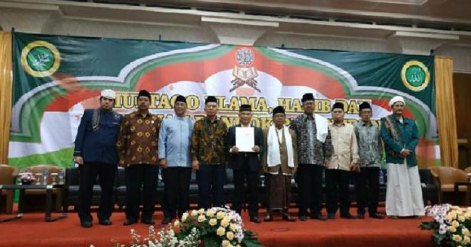 Pertemuan ulama di Hotel Grand Pasundan, Jalan Peta, Kota Bandung, Rabu (15/5) malam.
