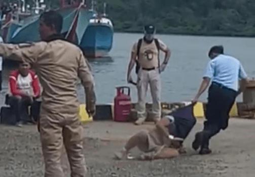 Foto: Video viral napi diseret saat hendak dipindah ke Lapas Nusakambangan (ist).