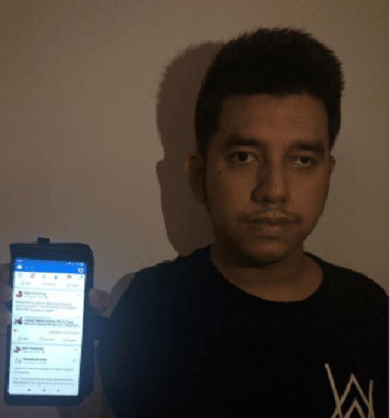 Polisi menangkap pria berinisial EY di Tangerang Selatan lantaran menyebar hoax Jokowi PKI. (Foto: dok. Istimewa)